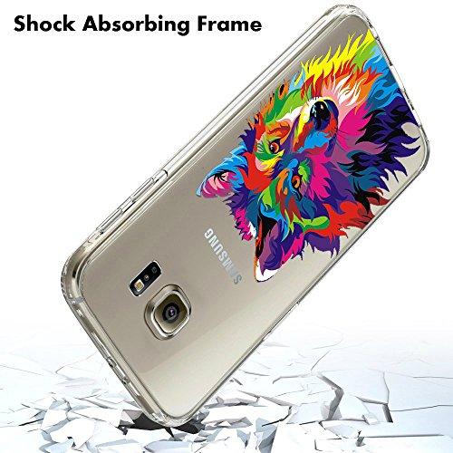 Coque Samsung Galaxy S7 edge Pacyer® TPU Cover Silicone Anti-Scratch Bumper Housse Absorption de Choc Clair Design Motif Transparent Pour Samsung Galaxy S7 edge 8