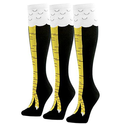 Kniestrümpfe 3 Paar Baumwolle Socken Cosplay Strümpfe mit -