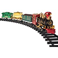 TECHTOY Vintage Classic Train with Big Track and Real Smoke,Light and Sound Battery Operated with Flashlight…