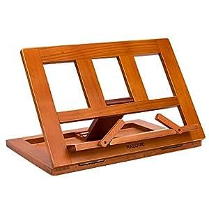 halovie support pour livre tablette pour ipads book holder lutrin de lecture pupitre de lecture. Black Bedroom Furniture Sets. Home Design Ideas