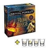 Winning Moves Trivial Pursuit Herr der Ringe Collector's Edition Gesellschaftsspiel Ratespiel Quiz Deutsch + Schnapsgläser 4er Set