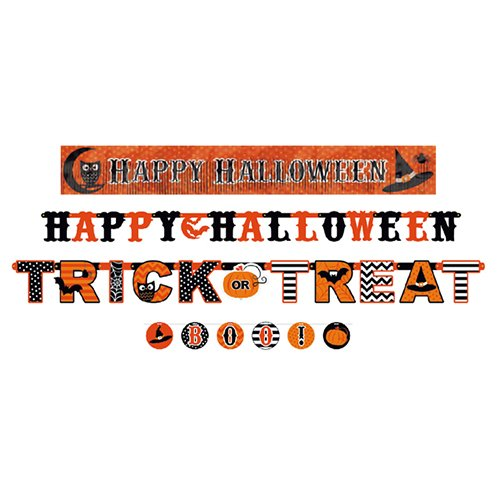 amscan International 129016 Halloween Themed Banner