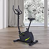 HOMCOM 8 Levels Adjustable Magnetic Exercise Bike Trainer Health Cycling Fitness Equipment Resistance Cardio Home Gym LCD Monitor