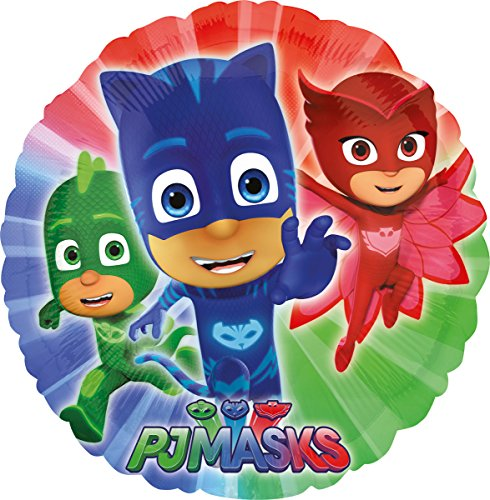 nballon PJ Masks Rund, Weiß (Pyjama-party Dekorationen)
