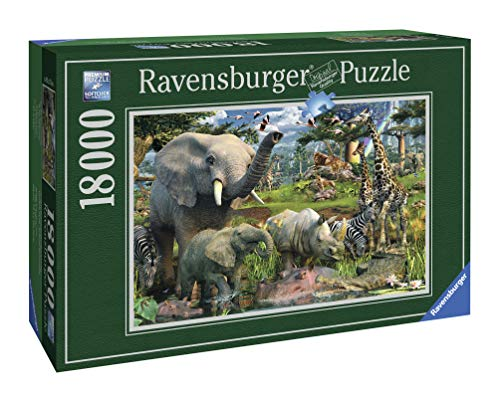 "Ravensburger 17823 David Penfound ""At the waterhole""- Puzzle da 18.000 pezzi"