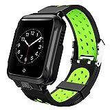 Plzlm Compatible con la cámara Inteligente Android Reloj GPS Bluetooth WiFi 1000mAh Deporte SmartWatch los Hombres de la Correa de Silicona
