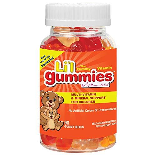 Gummibärchen für Kinder - Umfassende Vitamin- und Mineralienunterstützung für Kinder - Mama's Select Li'l Gummies Enthalten Vitamine A, C, D, E, B und mehr - Neuer verbesserter Geschmack! -