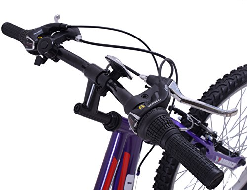 "51vPJc BMRL - Ammaco ASPEN WOMENS 20"" FRAME 21 SPEED FRONT SUSPENSION 26"" WHEEL MOUNTAIN BIKE PURPLE"