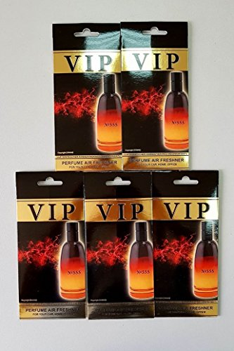 Preisvergleich Produktbild 5 x caribi VIP Auto, Zuhause oder Büro Lufterfrischer mit Parfume Duft von 555 - Christian Dior Fahrenheit