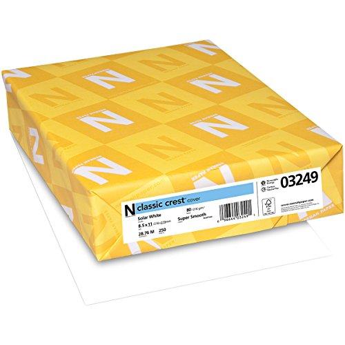 "Preisvergleich Produktbild Neenah 80lb Classic Crest Cardstock 8.5""X11"" 250/Pkg"