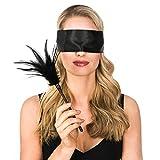 Hochwertige Erotik Augenbinde mit extra weichem Federkitzler - Perfektes Set