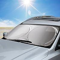 Aodoor Pare-Brise-Soleil, Pare Soleil de Voiture, La Protection Avant Parfaite Contre Les Rayons UV et la Chaleur dans Votre Voiture, 160 x 86cm (Argenté)