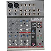 Phonic AM 105FX Mixer Con Processore Effetti Per Home Studio, Live, Karaoke, Ecc.