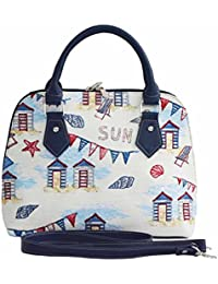 Beach Hut College Bag by Signare | Shoulder Branded Tote | 33x27x15 cm | (COLL-BHUT)