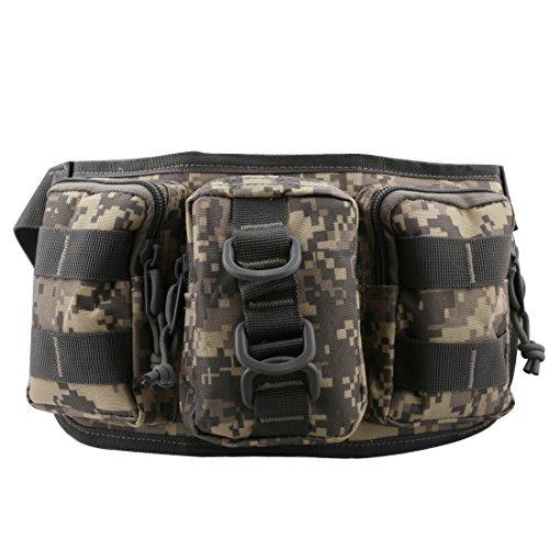 A-szcxtop Multifunktions Tactical Toolkit mit 3verbunden Taschen Taille Pack für Outdoor Sports, Laufen, Wandern, Klettern, Camping und CS ACU