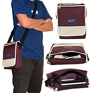 ACM Flip Soft Padded Shoulder Sling Bag for Tescom Bolt 3g Carrying Case Purple