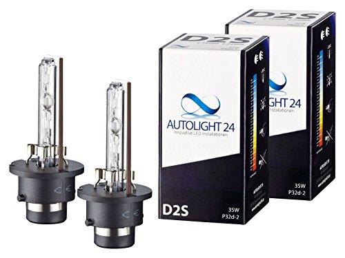 2 x Xenon Brenner D2S - 6000K TÜV Ersatz Lampen Birnen E-Zulassung