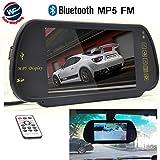 Auto Wayfeng WF 17,8cm HD 16: 9USB Bluetooth MP5FM SD écran couleur LCD TFT Voiture Rétroviseur moniteur support 2entrée vidéo et audio pour auto Camera/DVD/VCD/STB/récepteur satellite