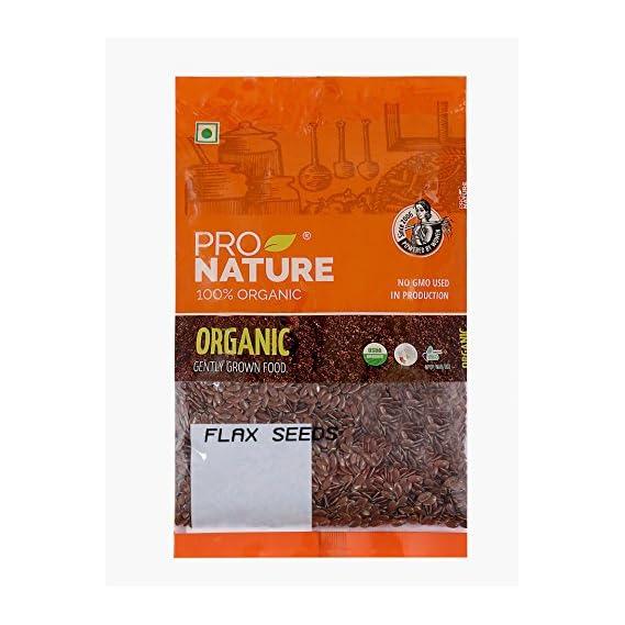 Pro Nature 100% Organic Flax Seeds, 100g