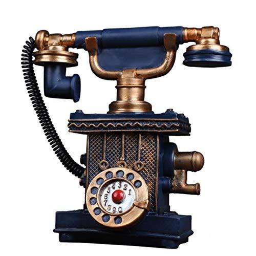 Unbekannt Europäische Retro Vintage Telefon Modell Restaurant Wohnzimmer Home Cafe Bar Shop Dekoration Dekoration (Farbe : Blau)