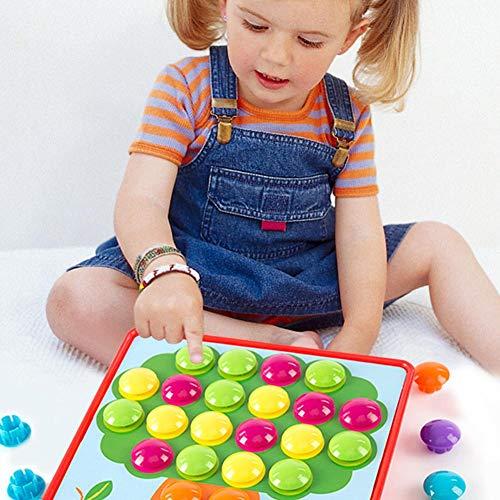 Button Art Farbabstimmung Mosaik Pegboard Puzzles Spiel Lernspielzeug für Kleinkinder und Kinder im Vorschulalter (Vorschulalter Im Kinder Lernspielzeug Für)