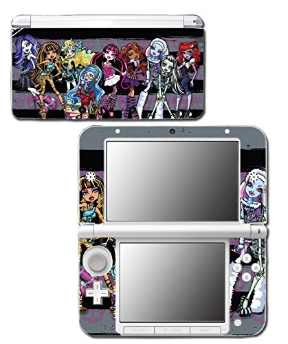 Monster High School New Ghoul Spirit Clawdeen Wolf Ghoulia Yelps Rule Haunted Doll Frankie Stein Draculaura Cleo de Nile Video Game Vinyl Decal Skin Sticker Cover for Original Nintendo 3DS XL System by Vinyl Skin Designs