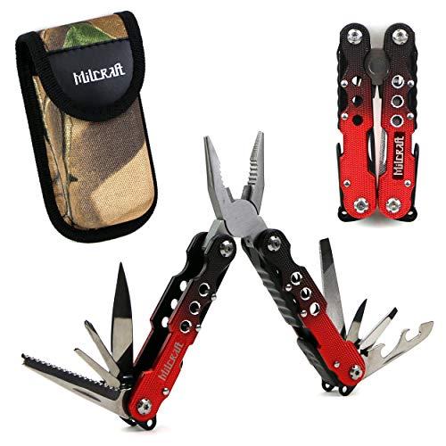 Milcraft Multi-Tool Zange 14 in 1 Taschenwerkzeugsatz für die Überlebensjagd im Freien -