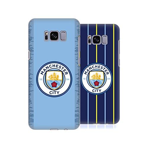 Head Case Designs Officiel Manchester City Man City FC 2018/19 Badge Kit Étui Coque D'Arrière Rigide pour Samsung Téléphones 1