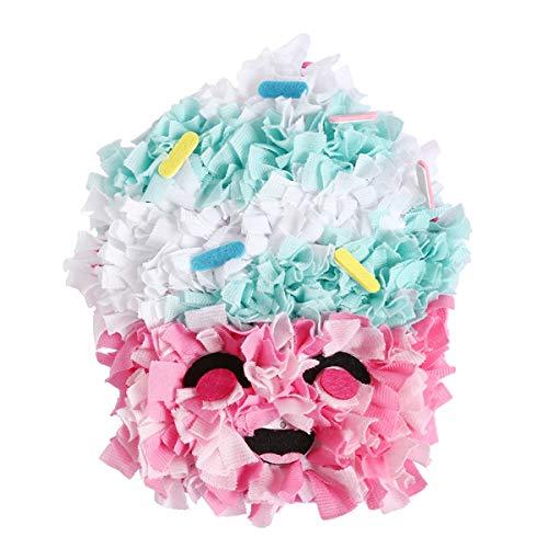 DIY Kuchen Kissen Handwerk Kit Tuch Gehäkelte Kinder Plüsch Kissen Kreatives Geschenk für Kinder -