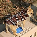 Generic Wasserdichten Reversiblen Hund Jacke Mantel Winter Warme Kleidung - Braun , XS -