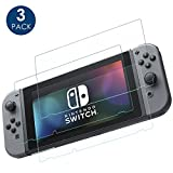 Nintendo Switch Displayschutzfolie, Simpeak 0.33mm 9H Geh�rtetem Glas Panzerglas HD-display/Anti-water, Oil and Fingerprints Glas Displayschutzfolie f�r Nintendo Switch medium image