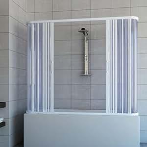 Pare baignoire douche 3 côtés en Plastique PVC mod. Nicla 70x160 cm avec ouverture centrale