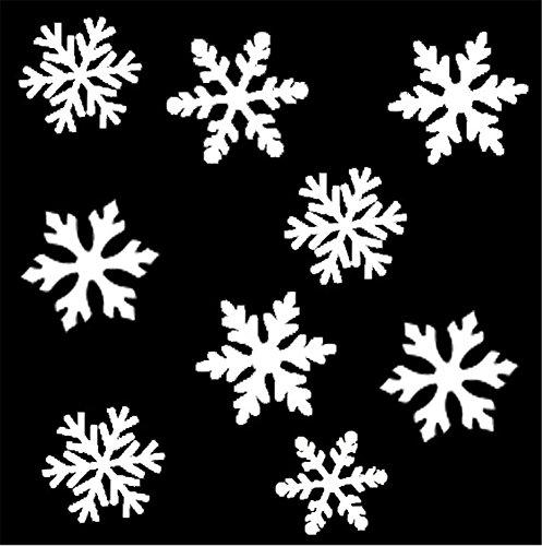 (LUCKY CLOVER-A Xmas Wasser LED Schneeflocken Scheinwerfer leuchten licht moving outside Mauer trauung zuhause)