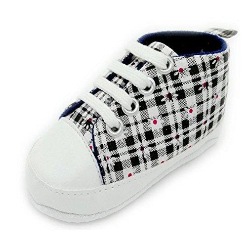 Salto Sneaker Sapo Xadrez, Bebé Walker Sapatos Pretos
