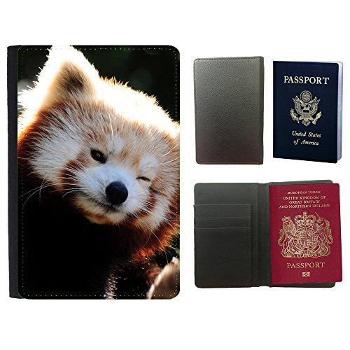 PU Pass Passetui Halter Hülle Schutz // V00003219 niedlichen roten Panda // Universal passport leather - Cover Passport Panda