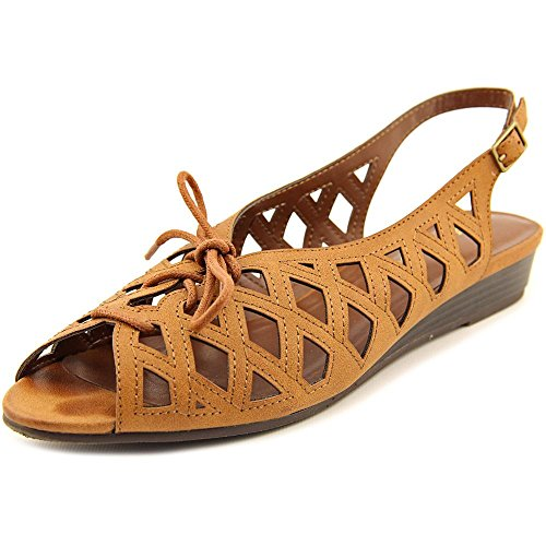 Easy Street Tinker Lace Up Femmes Large Synthétique Sandale Whiskey