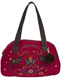 Oilily Folkloric Wool M Carry All Fuchsia