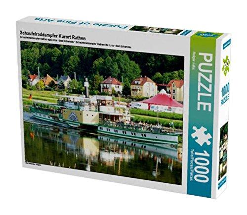 Preisvergleich Produktbild Schaufelraddampfer Kurort Rathen 1000 Teile Puzzle quer: Bad Schandau - Krippen (CALVENDO Natur)