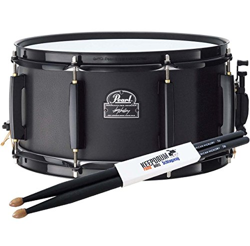 PEARL JJ1365N Joey Jordison Snare Drum + KEEPDRUM Drumsticks 5BB Black