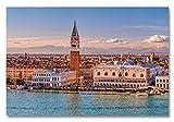 XXL Acrylglasbild, Venedig Dogenpalast und Campanile, Fineart Bild als Exklusive Wanddeko, Wandbild in gestochen scharfer Galerie Qualität Unter Acrylglas auf Original Aluminium Dibond 210x140cm
