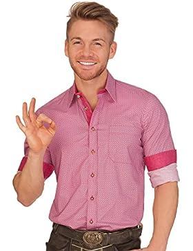 Hammerschmid Trachtenhemd Langarm - FORGGENSEE - Pink