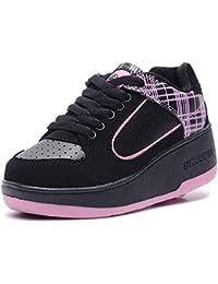 HUSK'SWARE Baskets Enfants Chaussures À Roulettes Garçons Filles Sneakers Avec Roues Automatique De Patinage Chaussures Une Roue