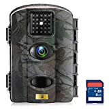 Artitan Game and Trail Camera 12MP 720P Wildlife Hunting Camera Time Lapse 65ft Detection Range No Glow 940nm IR Lights with 2.4in LCD Screen Waterproof IP65 Digital Deer Camera with 8GB SD Card