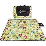 D&L Impermeabile coperta da picnic,prova di sabbia facile da ripiegare portatile coperta telo pic-nic per 2-4 persone spiaggia, picnic e campeggio-B 150x200cm