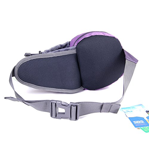 EGOGO viaggi sport pack fanny pack barbone marsupio escursionismo borsa con porta bottiglia d'acqua S2209 (Blu) Viola