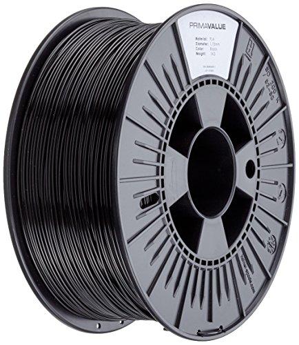 Price comparison product image 3D Prima PrimaValue PLA Filament, 1.75 mm, 1 kg Spool, Black