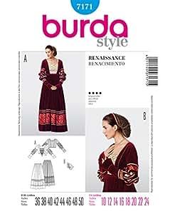 Burda B7171 Patron de Couture Renaissance 19 x 13 cm