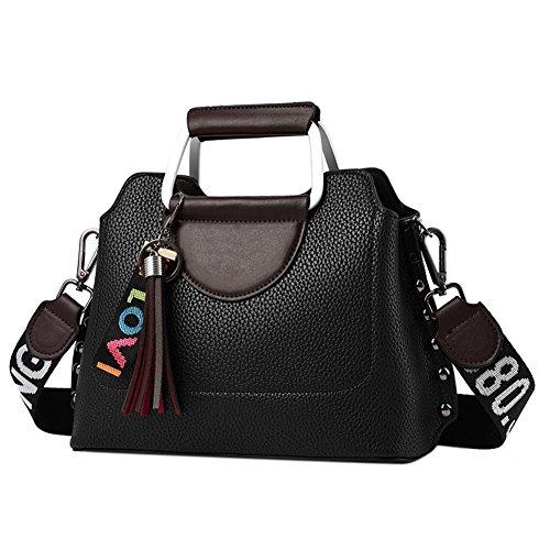 Single Taschen Leder Capacity PU Schulter Zantec Handtaschen Frauen Casual Crossbody Modische High schwarz Satchel Große xXtXg8wOq