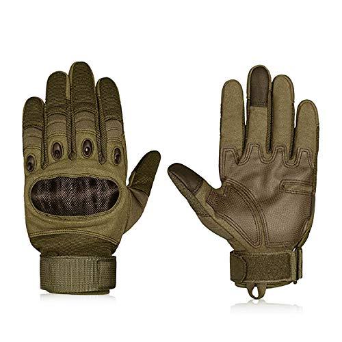 Hakkin Tactical Einsatz-Handschuh, Motorrad Handschuhe Touchscreen Sport Handschuhe für Motorräder Skifahren, Militär, Airsoft,Armygrün (L)