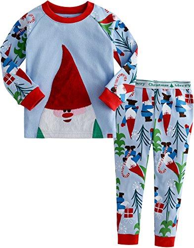 Santa 2 Stück Set (Vaenait baby Kinder Maedchen Nachtwaesche Schlafanzug-Top Bottom 2 Stueck Set Cozy Santa M)